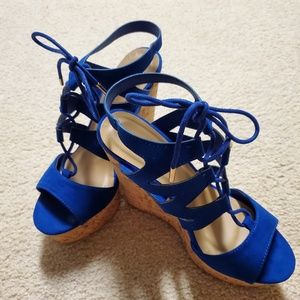 Blue Bamboo  Size 7 Wedges